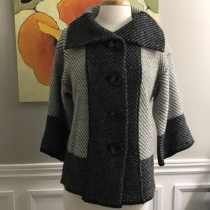 Button front cardigan grey size M